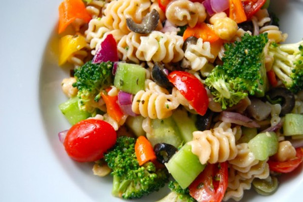 Veggie Pasta Salad with Zesty Italian Dressing