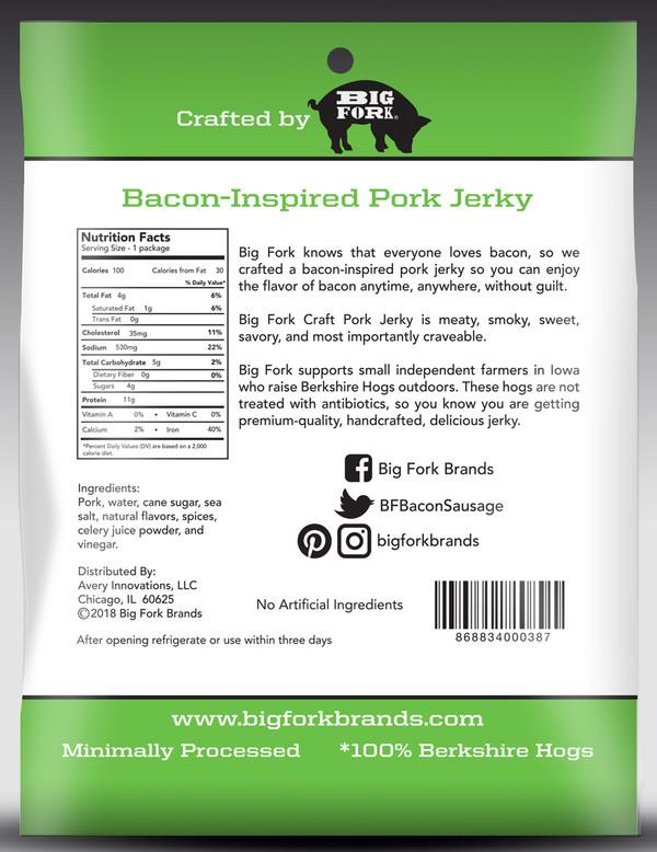 Spicy 3-Pepper Craft Pork Jerky - 1 Case (8 X 2.25 oz. packs)