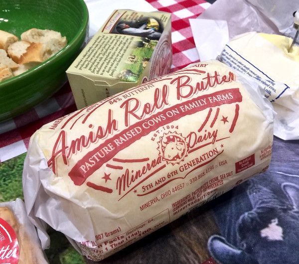Minerva Dairy Butter Roll Amish Unsalted, 2 lb