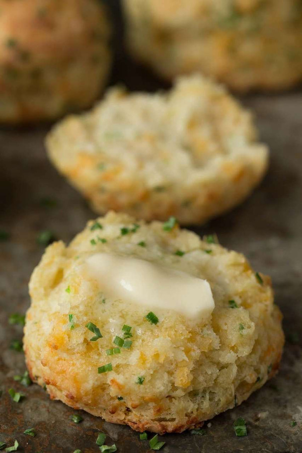 Cheddar Chive Biscuits - 1 dozen