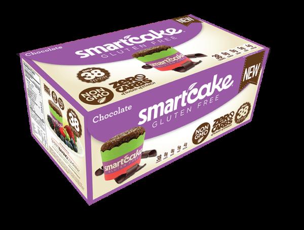 CHOCOLATE SMARTCAKE® SHIPPER BOX, Gluten Free, ZERO CARB of sugar of starch