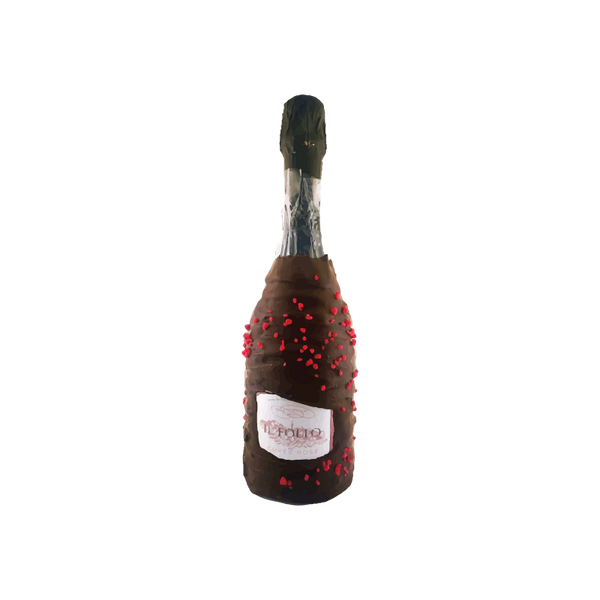 Chocolate Dipped Covered Champagne Bottle - Nicolas Feuillatte Brut