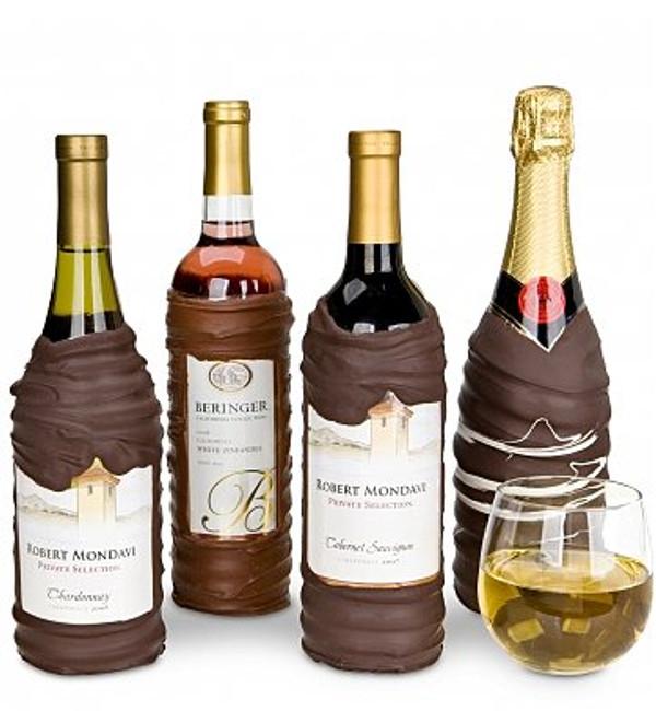 Chocolate Dipped Covered Wine Bottle - Mondavi Cabernet Sauvignon