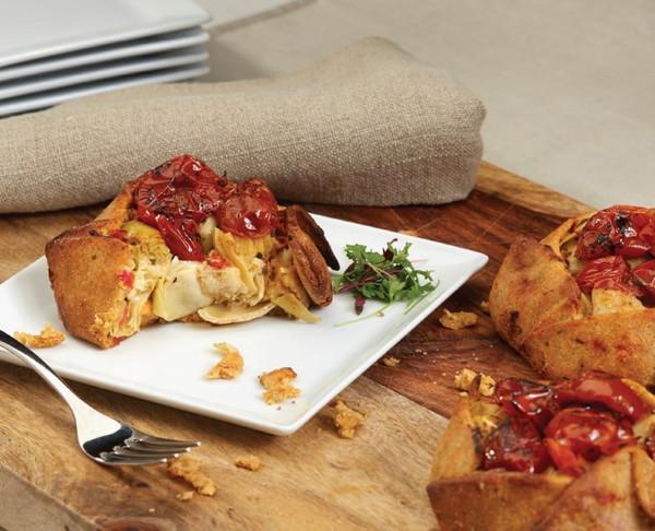 Spicy Charred Tomato & Artichoke Tart - 18 per case