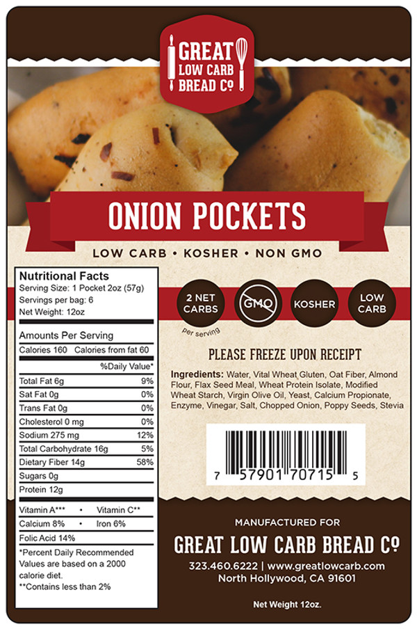 Great Low Carb Onion Pockets - 6 per bag