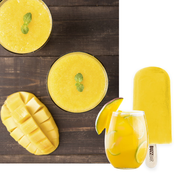 Pineapple Buzz Sorbet BuzzBar - 12 Pack