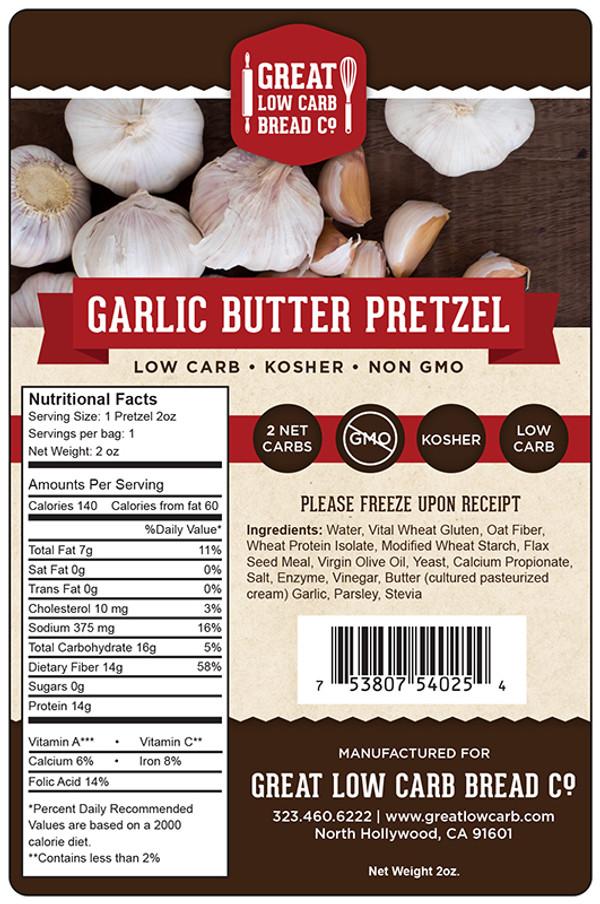 Great Low Carb Garlic Butter Pretzel 2oz