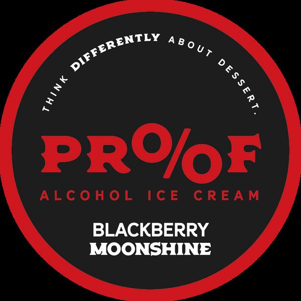 Blackberry Moonshine Ice Cream - 1 Pint