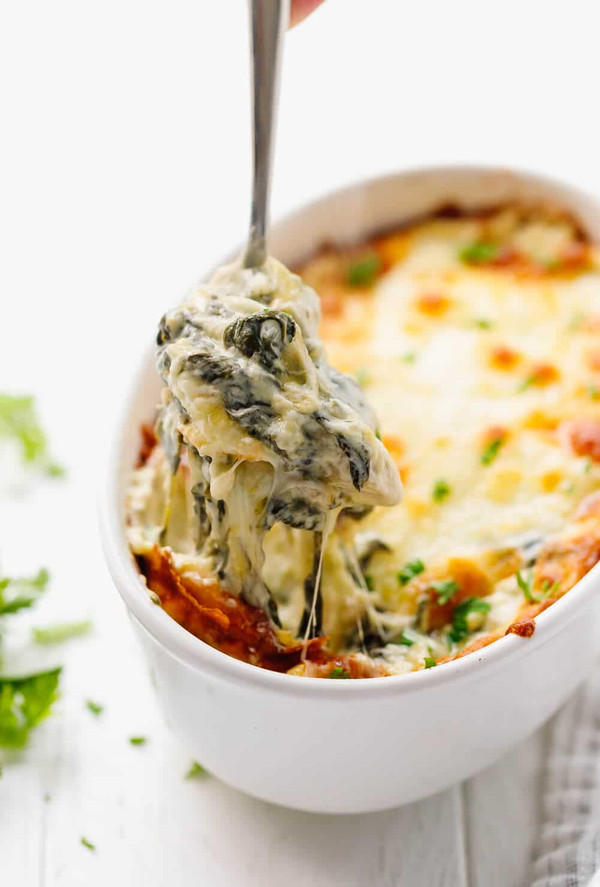 Low Carb Keto Friendly Spinach Artichoke Dip - 2 containers