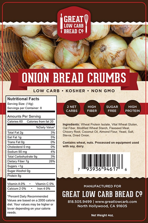 Great Low Carb Onion Bread Crumbs 4oz
