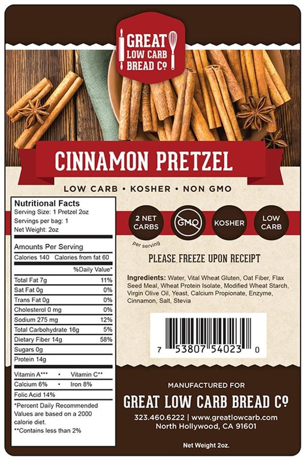 Great Low Carb Cinnamon Pretzel 2oz