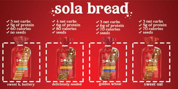 SOLA Sweet & Buttery Bread - 1 Loaf