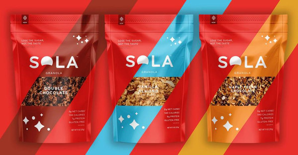 SOLA Chocolate / Vanilla / Caramel Nut Bar- includes 12