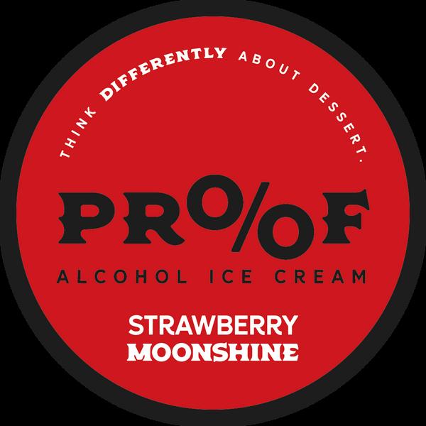 Strawberry  Moonshine Ice Cream - 1 Pint - 3 Pack