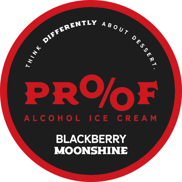 Blackberry Moonshine Ice Cream - 1 Pint - 6 Pack