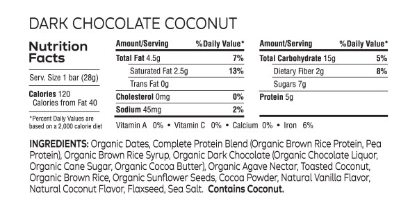 Coconut Cashew and Dark Chocolate Coconut Mini Bars (Pouch of 8)