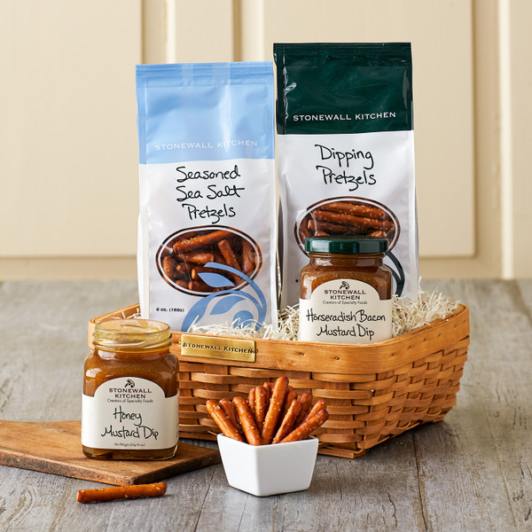 Pretzel and Dip Gift Basket