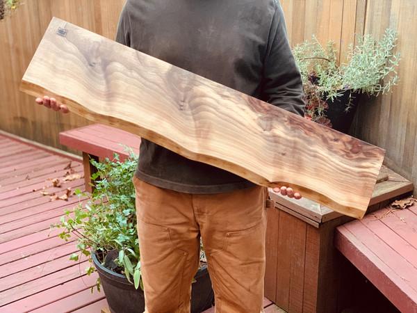 "36"" Charcuterie Board Solid Walnut Live-Edge Cutting Board - many sizes/styles"