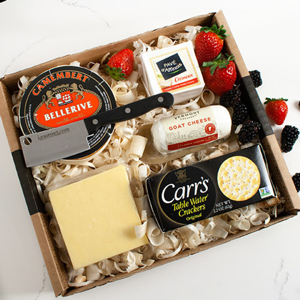Champagne Cheese Assortment Gift Set