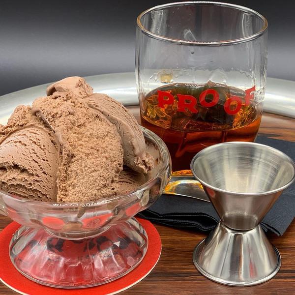Bourbon Chocolate Cherry Ice Cream - 1 Pint