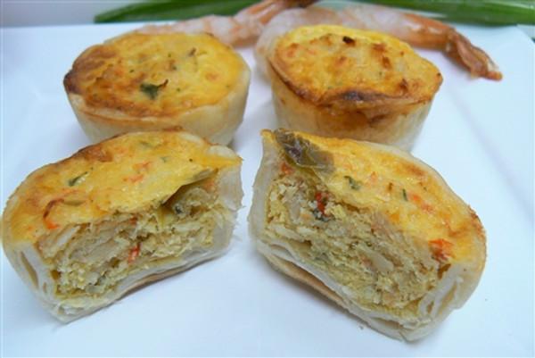 Seafood Mini Quiche - 24 pieces per tray