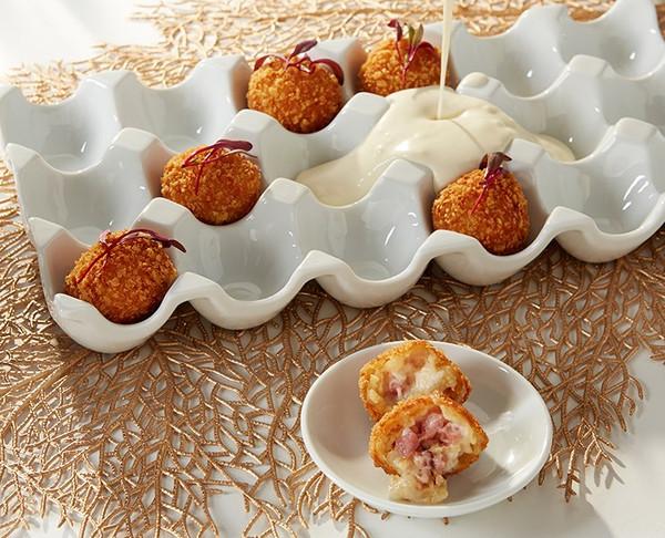 Mini Chicken Cordon Bleu Ball  Bites- 100 pieces per tray