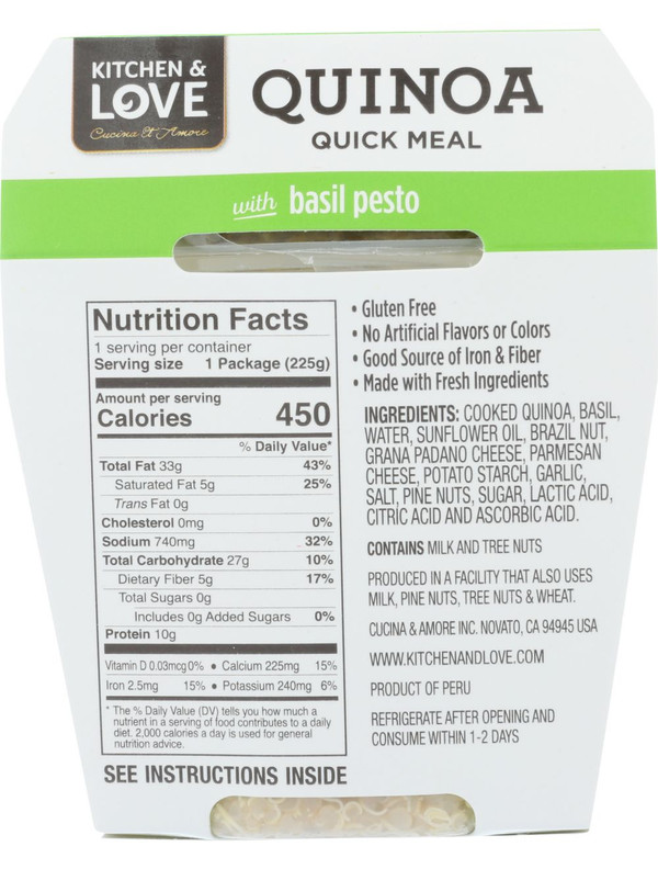 Quinoa Meal Variety Pack - Cucina & Amore - 6 Pack