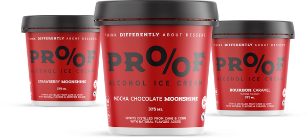 Pick & Choose Your Flavors of Proof Alcohol Ice Cream - 3 Pints