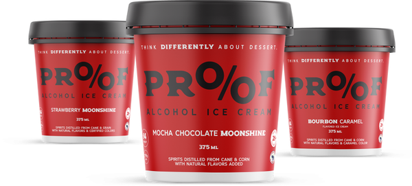 8 Pints of Proof Alcohol Ice Cream - Special Order