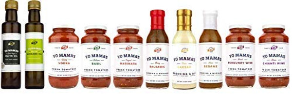 Keto Fresh Sauce Collection - Yo Mama's Foods  - No Sugar Added, Low Carb, Low Sodium, Gluten Free, Paleo Friendly