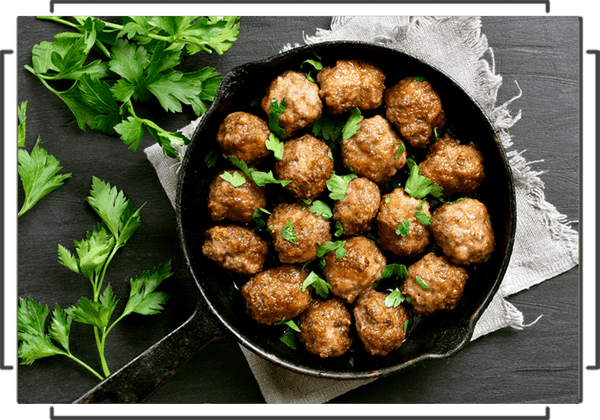 Organic Grass Fed Beef Meatballs - Roasted Garlic - Fifty Five Farmers