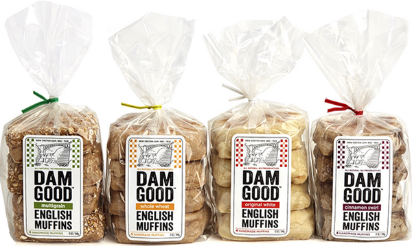 'Whole Wheat' Sourdough English Muffins, 1 bag (4 muffins per bag)