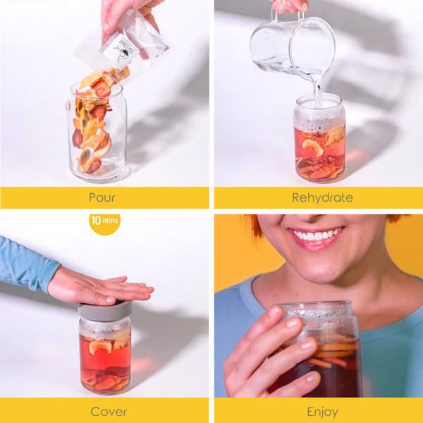 Velvet Hibiscus (Edible Fruit Tea) - 6 packs