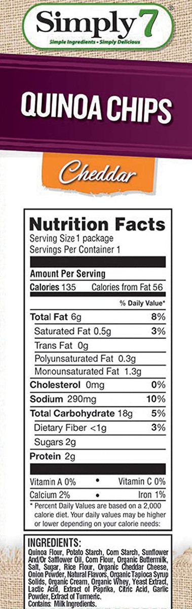 Quinoa Chips, Single Serve Variety Pack, 0.8 Ounce -  Pack of 24 - Gluten Free