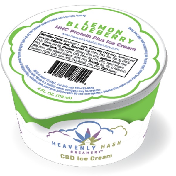 LEMON BLUEBERRY CBD Protein PLUS Ice Cream - 50mg - 12 Pack