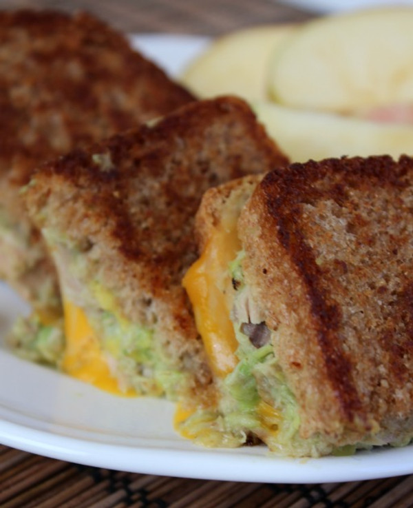 Avocado Tuna Grilled Cheese Sandwich