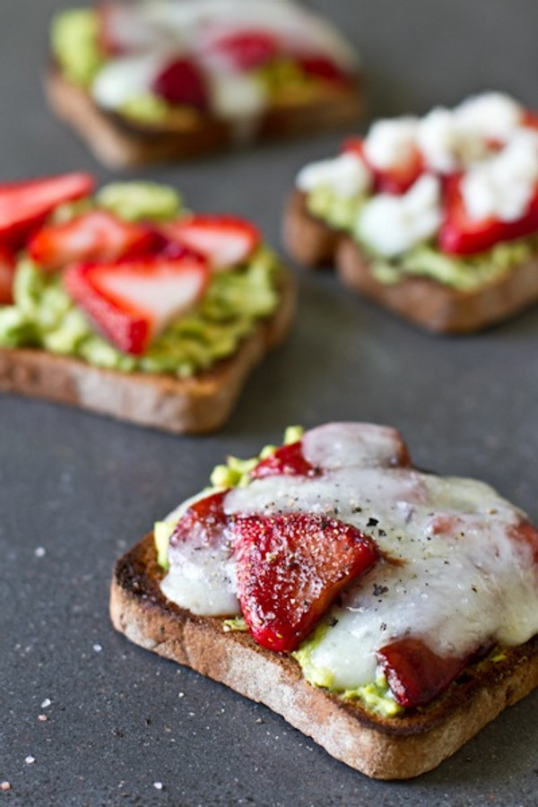 Avocado Strawberry + Goat Cheese Sandwich