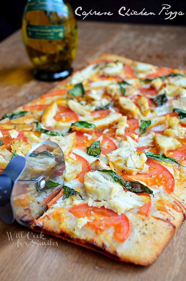 Caprese Chicken Pizza