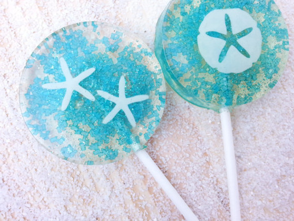 Champagne Lollipops, many flavors & designs, 6 included (as seen in Brides Magazines)