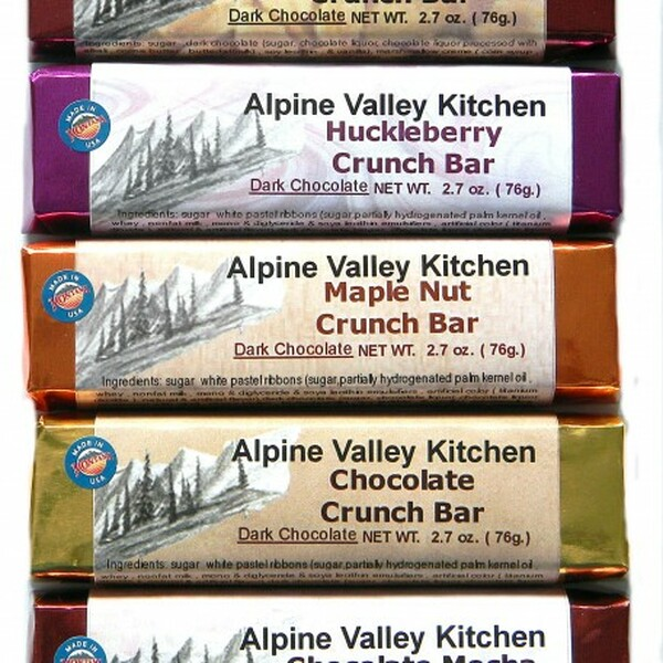 Milk / Dark Chocolate Crunch Bars - 5 flavors available