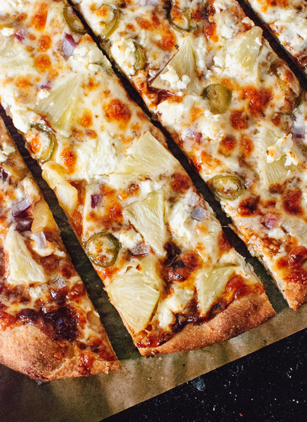 Barbecue Pineapple, Jalapeño and Feta Pizza