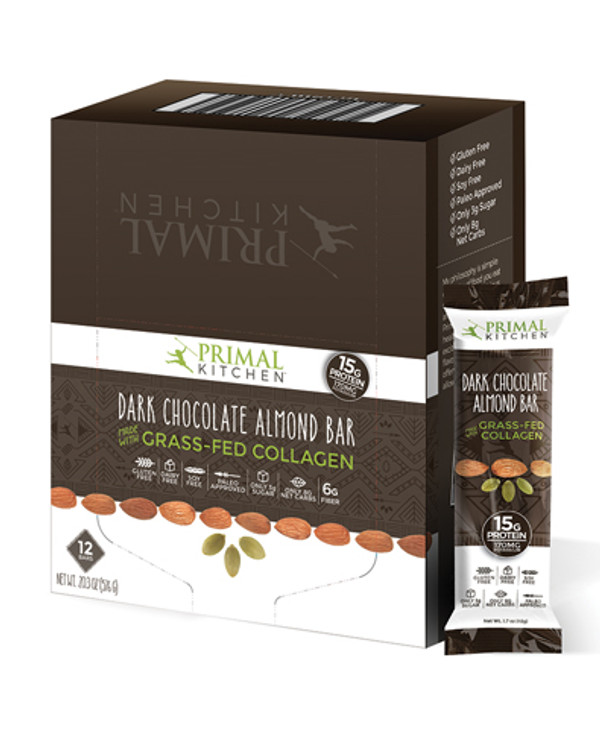 Primal Kitchen Dark Chocolate Almond Bars (12 Pack)