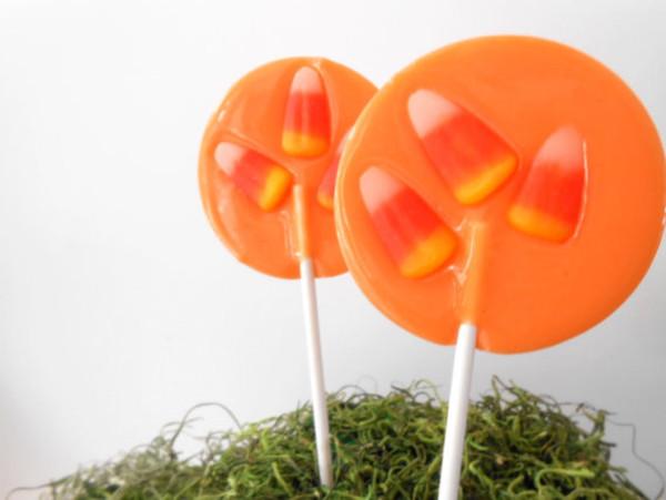 Candy Corn Gourmet Lollipops - Set of 7