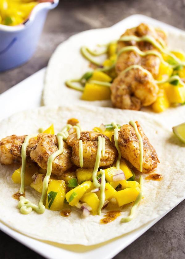 Shrimp and Mango Tacos