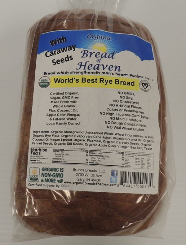 Organic World's Best Rye Bread - Sliced