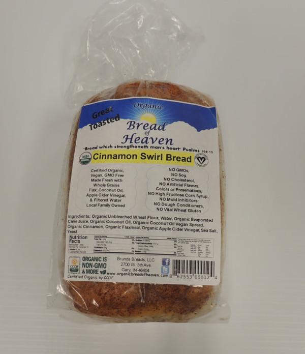 Organic Cinnamon Swirl Bread
