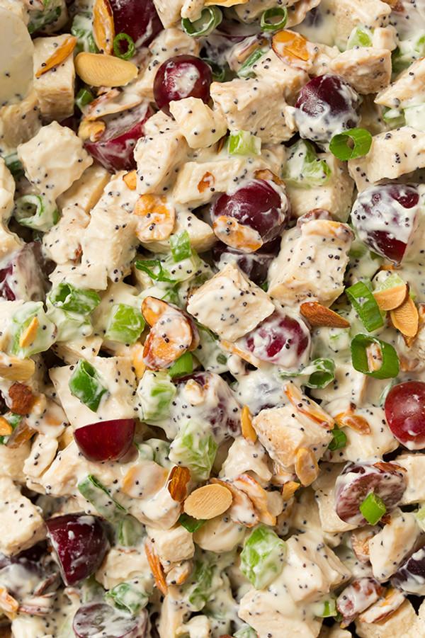 Almond Poppy Seed Chicken Salad Sandwiches
