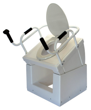 Raised position, shown with toilet seat installed