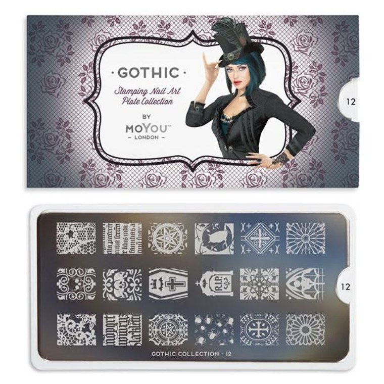 Gothic Nail Plate | 12