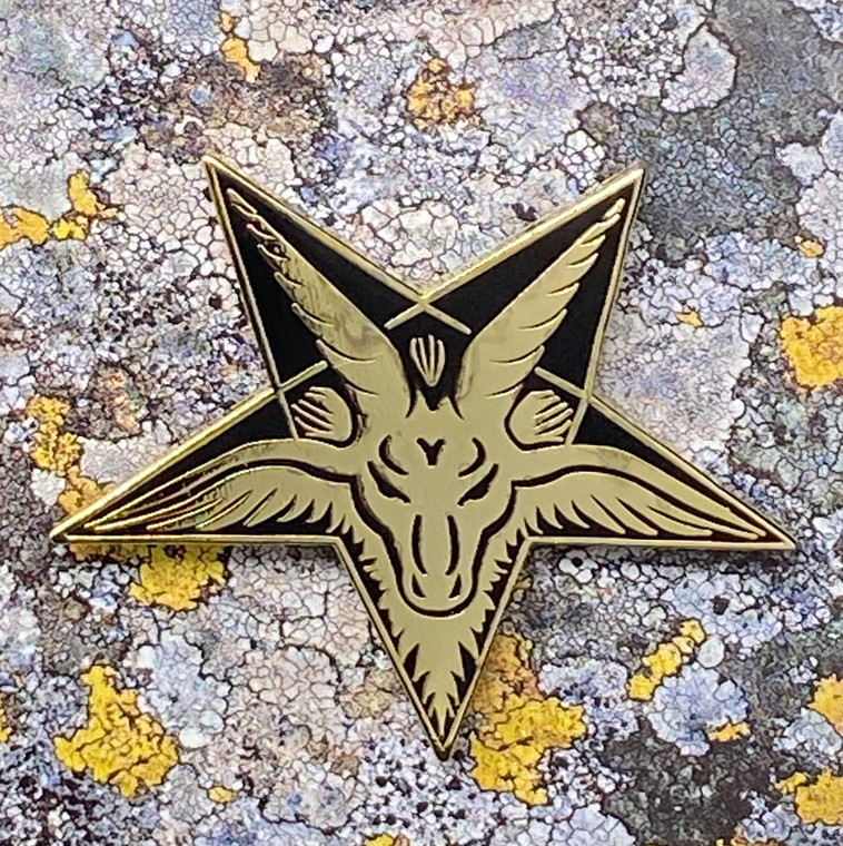 Baphomet Head Enamel Pin